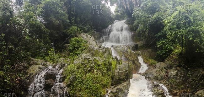Na Muang Waterfalls in rainforest, Koh Samui, Thailand