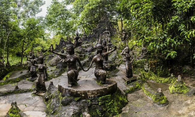 Secret Buddha Garden statues in rainforest, Koh Samui, Thailand