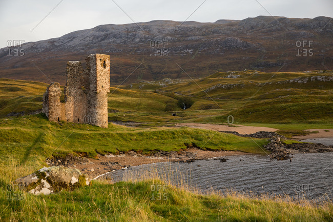Ardvreck Castle in Scotland, UK