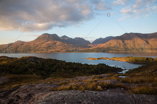 Loch and mountain scenery, Torridon, Scotland, UK