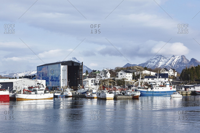 Fisherman's warehouses, Lofoten, Nordland, Norway