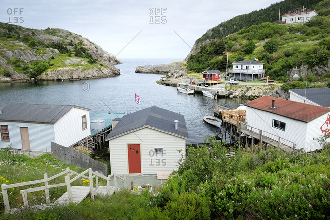 View of bay and waterfront, Saint Johns, Canada