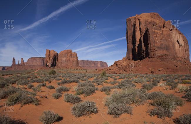 Sandstone buttes, Monument Valley Navajo Tribal Park, Utah, USA