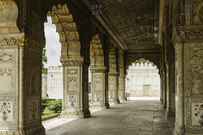 Archways, Red Fort, Delhi, India