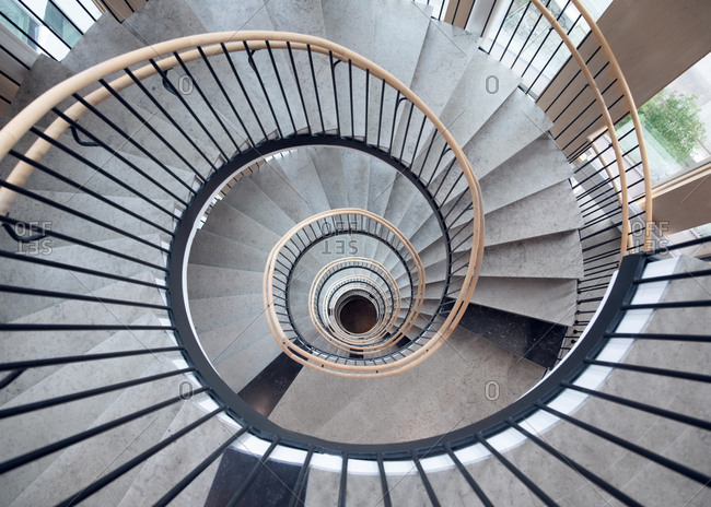 Spiral staircase of the Lund Courthouse in Lund, Sweden
