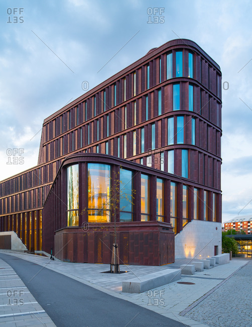 Lund, Sweden - May 2, 2020: Exterior of Lund Courthouse