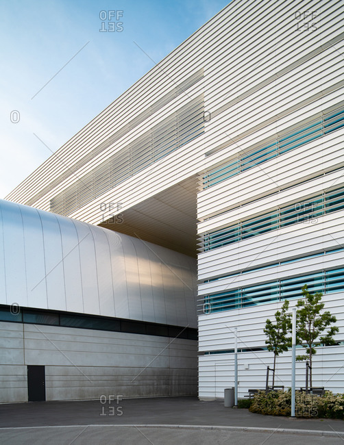 Lund, Sweden - June 13, 2020: Exterior of the Max IV Laboratory
