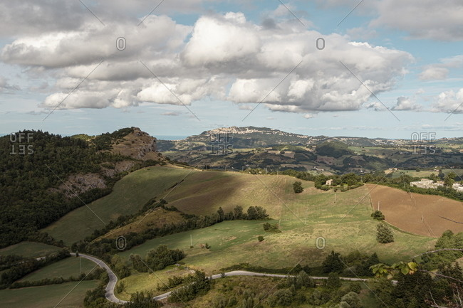 View from Fortress of San Leo, San Marino, Marche, Italy