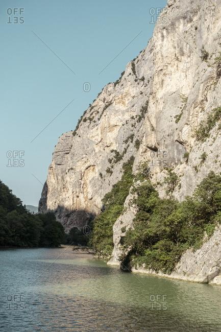 Furlo Pass in Marche, Italy