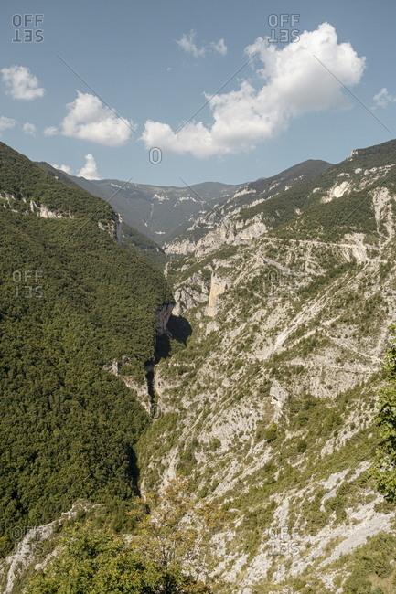 Beautiful mountain landscape in Pennapiedimonte, Abruzzo, Italy