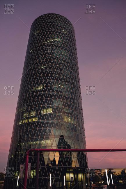 Hochaus Westhafen Tower in Frankfurt, Hesse, Germany