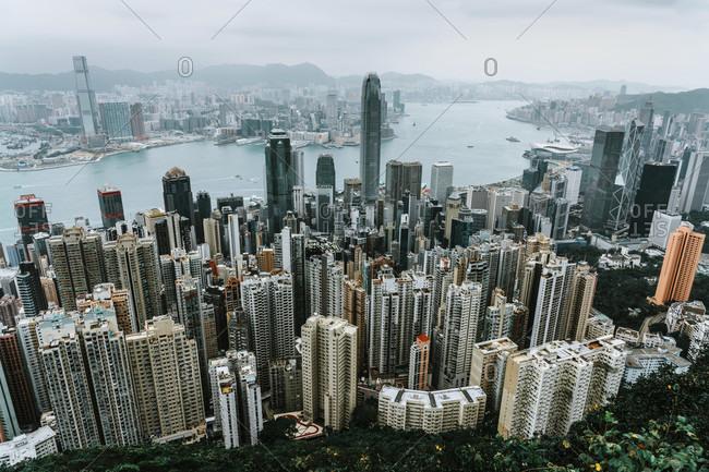 Asia, China, Hong Kong, Hong Kong Island, Victoria Harbor