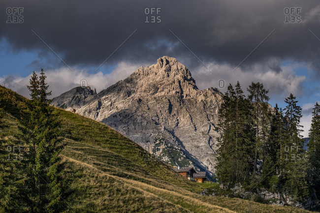 Idyllic alpine landscape, Berchtesgaden, Berchtesgadener Land, Upper Bavaria, Bavaria, Germany, Alps, Mountains, Berchtesgaden Mountains, Salzburg State