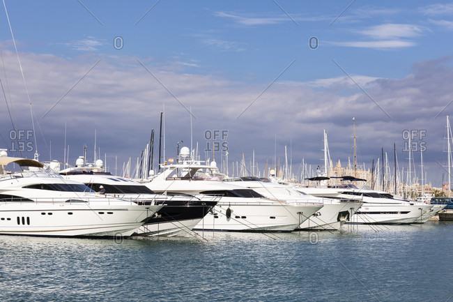 Yacht harbor, Palma de Mallorca, Mallorca, Balearic Islands, Spain