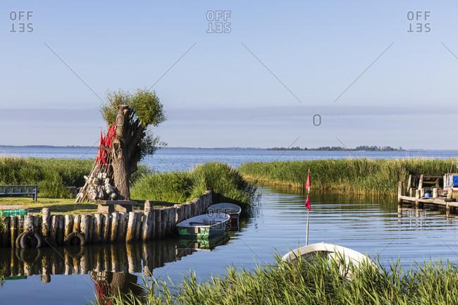 Little fishing harbor of Zempin, Usedom Island, Baltic Sea, Mecklenburg-Vorpommern, Mecklenburg-Western Pomerania, Germany