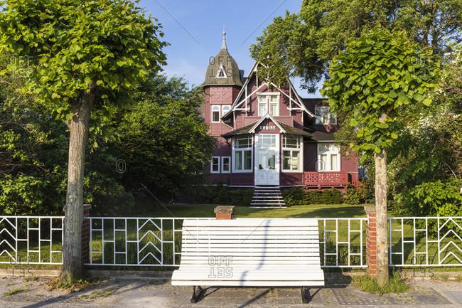 June 20, 2017: Villa Undine by the promenade, Ruegen Island, Insel Rügen, Baltic Sea, Mecklenburg-Vorpommern, Mecklenburg-Western Pomerania, Germany
