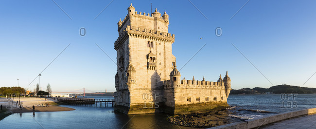 Torre de Belem on the Tejo River, UNESCO World Heritage Monument, Lisbon, Portugal