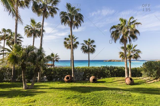 Garden at Nissi Beach Resort, Agia Napa, Cyprus
