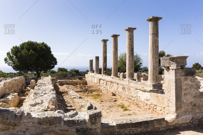 Temple of Apollo Hylates at the Archaeological site of Kourion, Cyprus