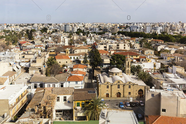 Elevated view on the turkish part of Lefkosia, Nicosia, Cyprus