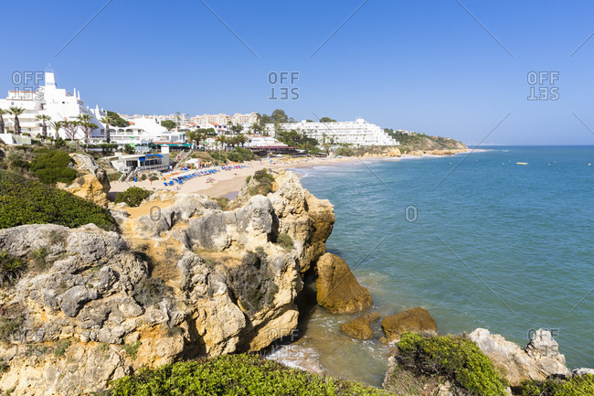 Elevated view on Praia da Our and its holiday resorts
