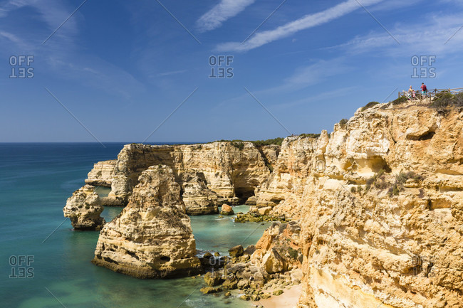 Elevated view on Praia da Marinha