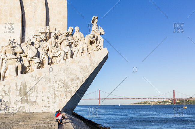 May 16, 2015: Monument to the Discoveries and the April 25th Bridge in the distance, Belem