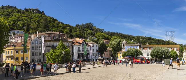 May 17, 2015: Sao Martinho Church at the Praca da Republica square, UNESCO World Heritage Site