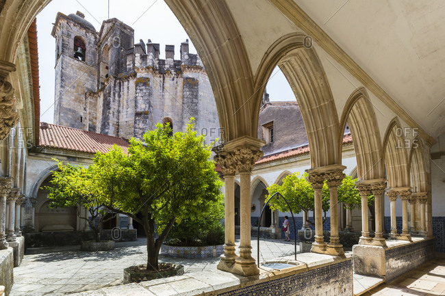 May 20, 2015: Cloister of Convent of Order of Christ or Convento de Christo (originally Templar stronghold), UNESCO World Heritage Site