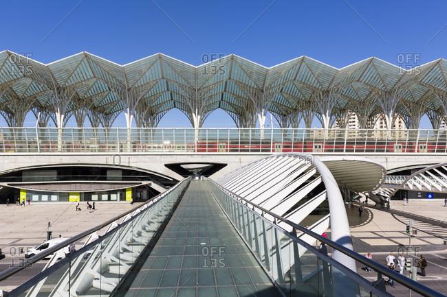 May 21, 2015: Oriente Railway Station, designed by architect Santiago Calatrava, Oriente district