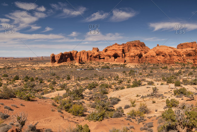 USA, Utah, Arches National Park, rock formations,