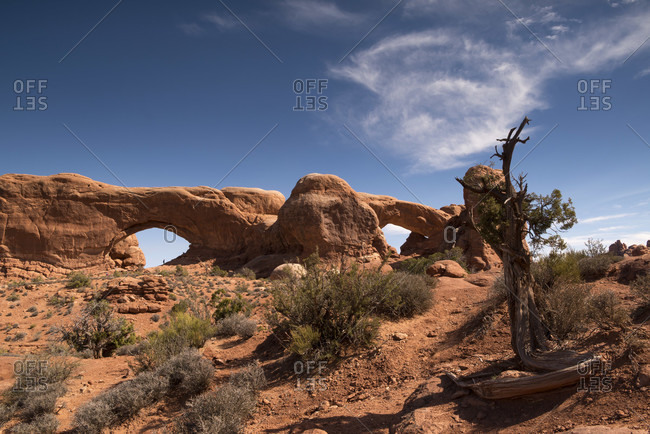 USA Utah, Arches National Park, North and South Windows