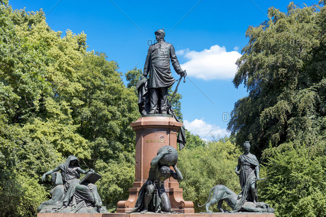 June 17, 2019: Bismarck National Monument, memorial, Grocer Stern, Tiergarten, Berlin, Germany