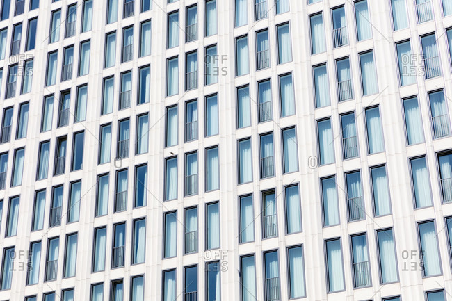 June 14, 2019: House facade, Stadtmitte, Berlin, Germany