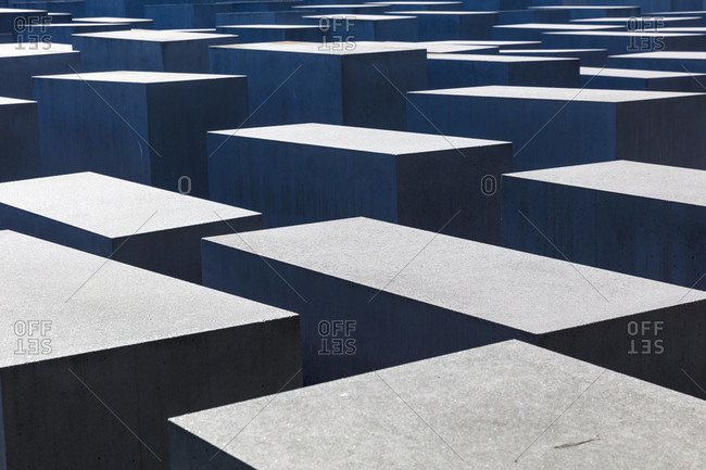 June 14, 2019: Holocaust Memorial, Memorial to the Murdered Jews of Europe, Architecture, Mitte, Berlin, Germany