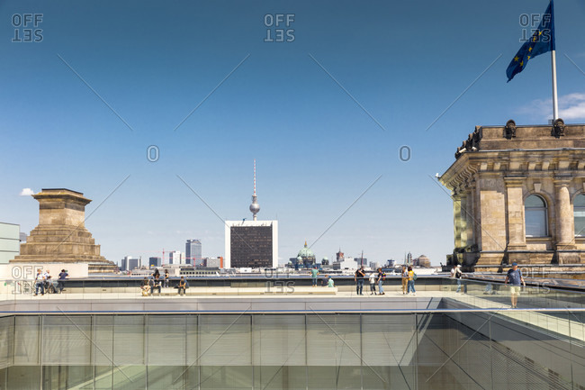 Reichstag, roof terrace, Bundestag, government district, Berlin, Germany