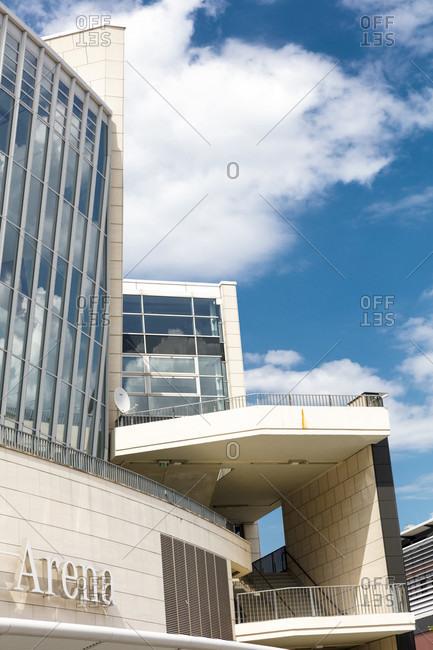 June 17, 2019: Mercedes-Benz Arena, facade, architecture, Mercedes Benz Platz, Berlin, Germany