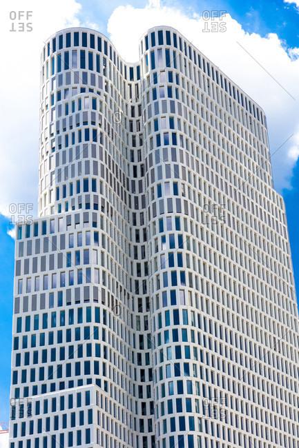 June 17, 2019: Upper West, high-rise building, architecture, Breitscheidplatz, Charlottenburg, Berlin, Germany
