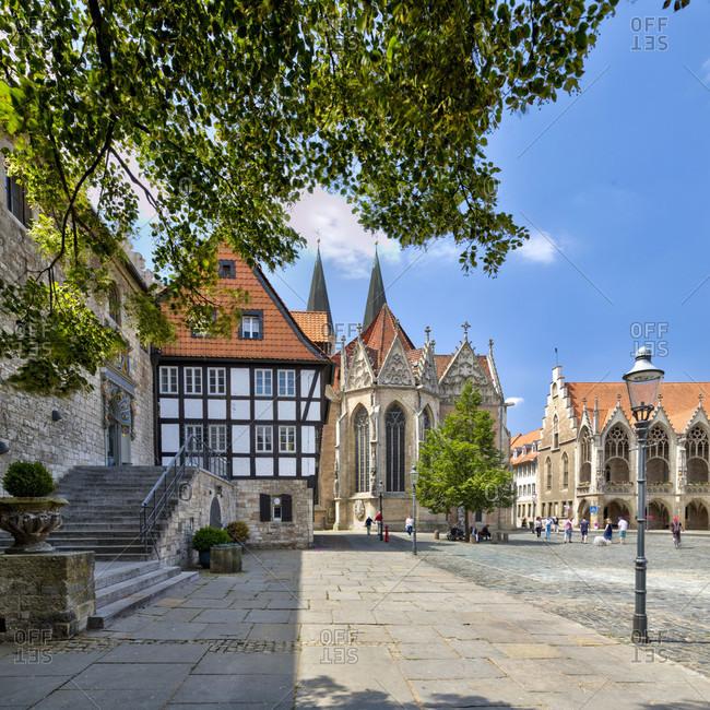 Gewandhaus, Martinikirche, Altstadtrathaus, Altstadtmarkt, Braunschweig, Lower Saxony, Germany, Europe