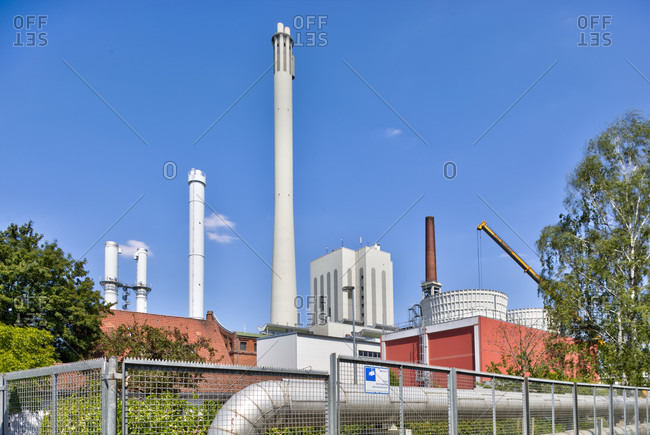 July 19, 2018: BS Energy, power plant, public utility, energy supply, technology, architecture, Braunschweig, Lower Saxony, Germany, Europe