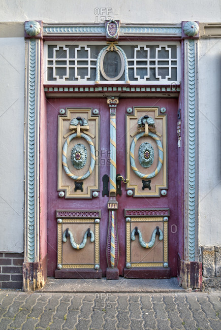 Old door, front door, door, half-timbering, old town, Hann. Menden, Lower Saxony, Germany, Europe