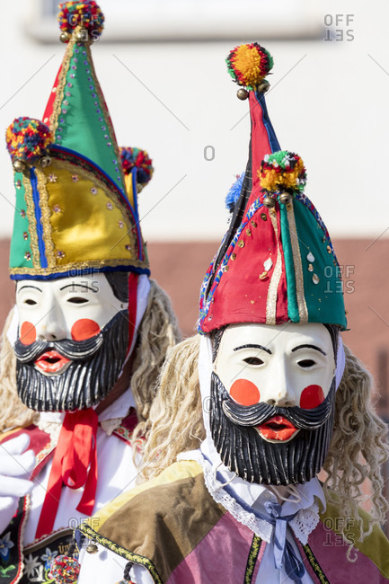 Rhone Maskenfastnacht, Oberelsbach, Rhon-Grabfeld, Franconia, Bavaria, Germany,