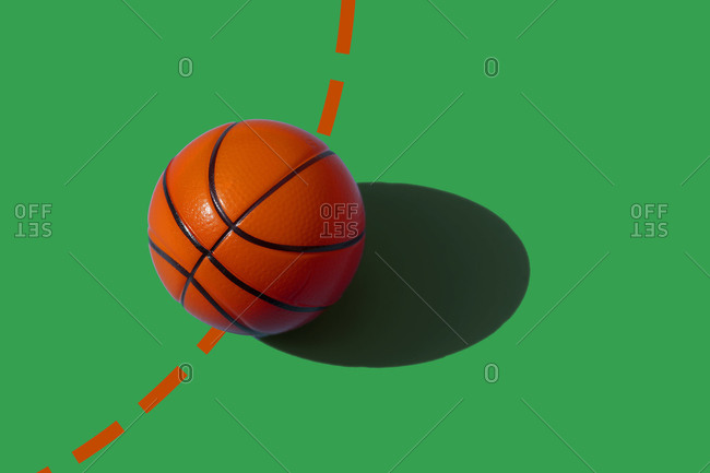 Studio shot of basketball