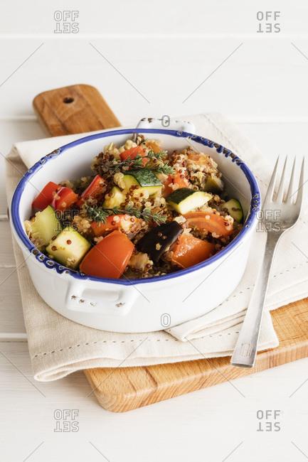 Pot of vegan Ratatouille