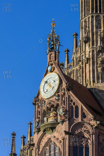 Germany- Bavaria- Nuremberg- Mechanical clock Mannleinlaufen