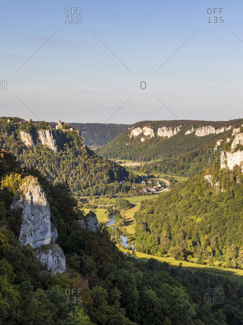 Germany- Baden-Wurttemberg- Scenic view of Danube Valley in summer
