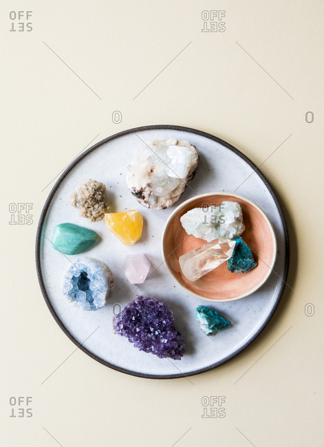 Thoughtful collection of crystal stones