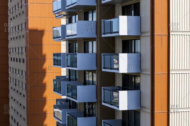 July 23, 2020: The Port de Mer condominium complex in Longueuil, QC, Canada