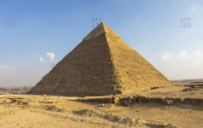 Giza pyramid in Cairo, Egypt