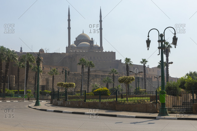View of Mosque of Muhammad Ali on sunny day, Cairo, Egypt